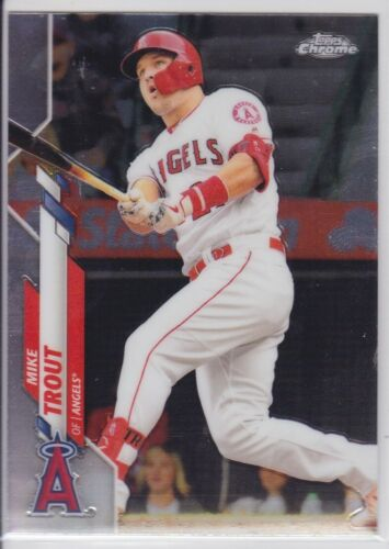 2020 TOPPS CHROME MLB LOS ANGELES ANGELS MIKE TROUT BASE CARD NO. 1