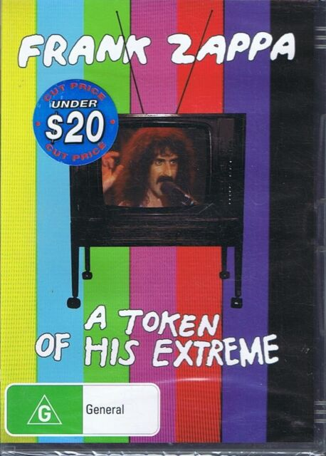 FRANK ZAPPA - A Token Of His Extreme DVD NEW & SEALED Free Post