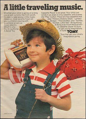 1982 vintage Toy Ad BRING A LONG A SONG casette player from TOMY 083015