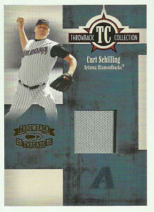 Curt Schilling Diamondbacks 2005 Threads Throwback Collection Relics Jersey /500