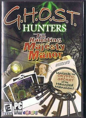 Ghost Hunters: The Haunting of Majesty Manor PC CD spirits hidden object (Ghost Hunters The Haunting Of Majesty Manor)