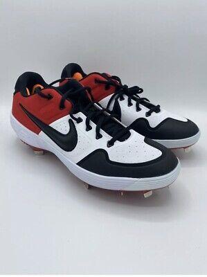 Nike Alpha Huarache Elite 2 Baseball Metal Cleats Black Red AJ6873-106 Size 6