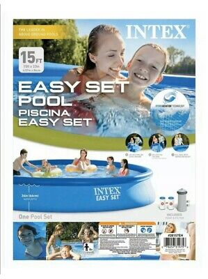 Intex Easy Set 15 foot x 33 inch Above Ground Pool Set - Blue - Incl Filter/Pump