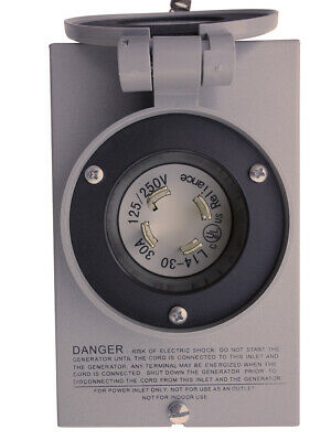 Reliance Controls Pb-30 Generator Power Cord Inlet Box 30 Amp New In Hand