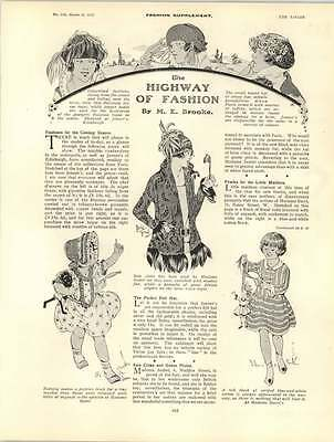 1922 Children's Fashions Roaring Twenties Ladies Hats - Roaring Twenties Ladies Fashion