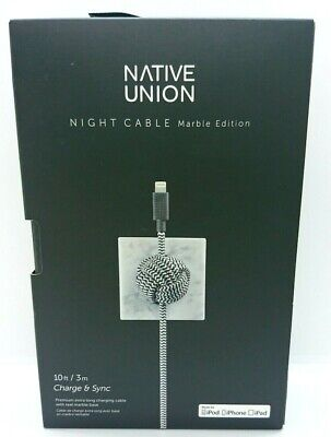 NATIVE UNION NIGHT CABLE Marble Edition 3 M / 10 Ft Charge...