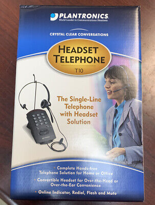 New Plantronics T10 Single Line Telephone with Headset Solution