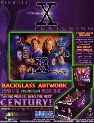 The X FILES 1997 Original NOS Pinball Flyer NOS Sci-Fi Art Mulder Skully SEGA