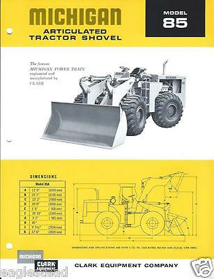 Equipment Brochure - Michigan 85 Articulated Tractor Shovel Wheel Loader E2595