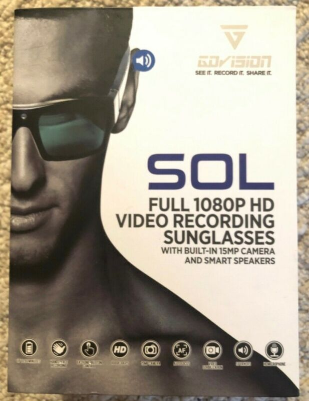 Full 1080P HD video recording smart sun glasses. Beige color. Never opened