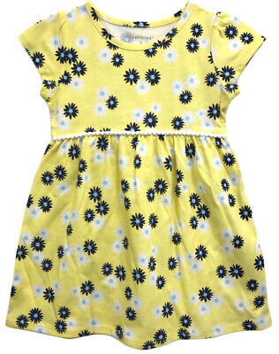 a485718ae Healthtex Toddler Girls Yellow/Navy Blue/Baby Blue Daisy Dress Size 4T