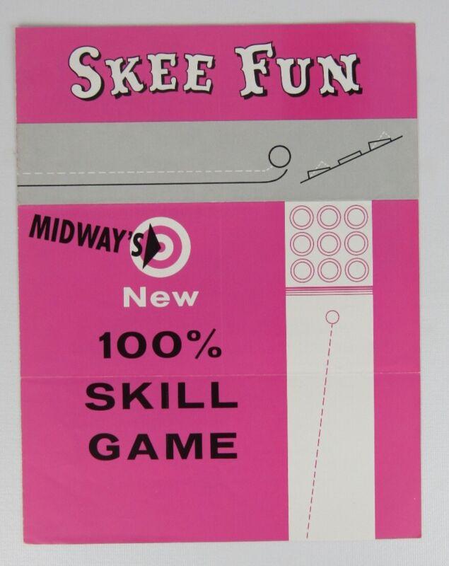 Midway Skee Fun Arcade Game Advertising Flyer