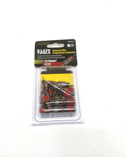 Klein Tools VDV813-617 Universal RCA Compression Connector RG59 10 Pack