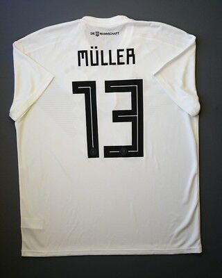 70485aa0dff 4.9 5 Germany  13 Muller 2018 Football Soccer Home Jersey Shirt Size XL  Adidas