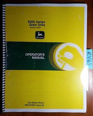 John Deere 8000 Series Grain Drill Sn 52968-61876 Owners Operators Manual 82