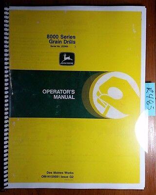 John Deere 8000 Series Grain Drill Sn 52968-61876 Owners Operators Manual 82