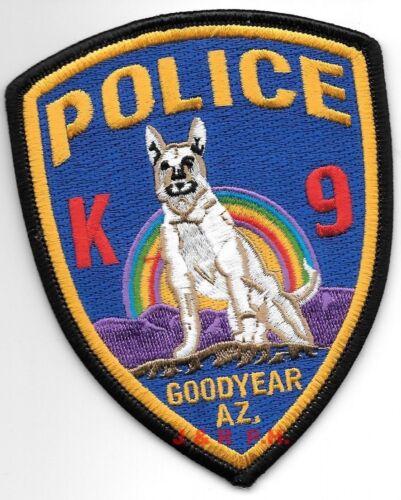 "Goodyear  K-9 Unit, Arizona (3.5"" x 4.5"" size) shoulder police patch (fire)"