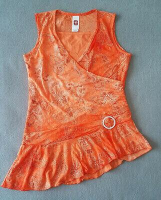 Firma Glitter (Kleid Festtagskleidchen, Größe 170/176,Farbe:orange,mit Glitter.Firma:here+there)