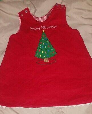 Girls Reversible Jumper Christmas Dress Ladybug Applique
