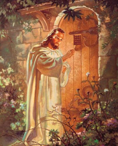 JESUS CHRIST REVELATION 3:20 8X10 PHOTO PICTURE CHRISTIAN ART 3