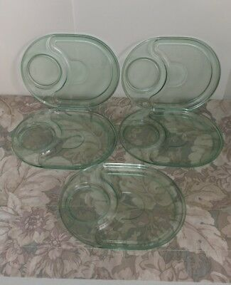 Vtg Tupperware Preludio Watercolor Plates / 2182A-1 / Set of 5
