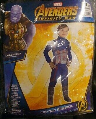 Disney Marvel's Avengers Infinity War Captain America Child SM Halloween - Disney Infinity Marvel Kostüm