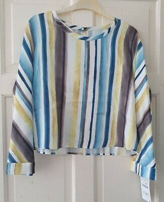 ZARA Ladies Top Long Sleeved 12uk/Large Brand new
