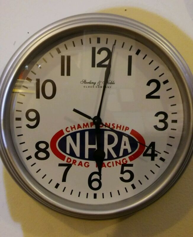 "***NEW*** NHRA custom 8.78"" round clock ihra idba prostreet top fuel prostock"