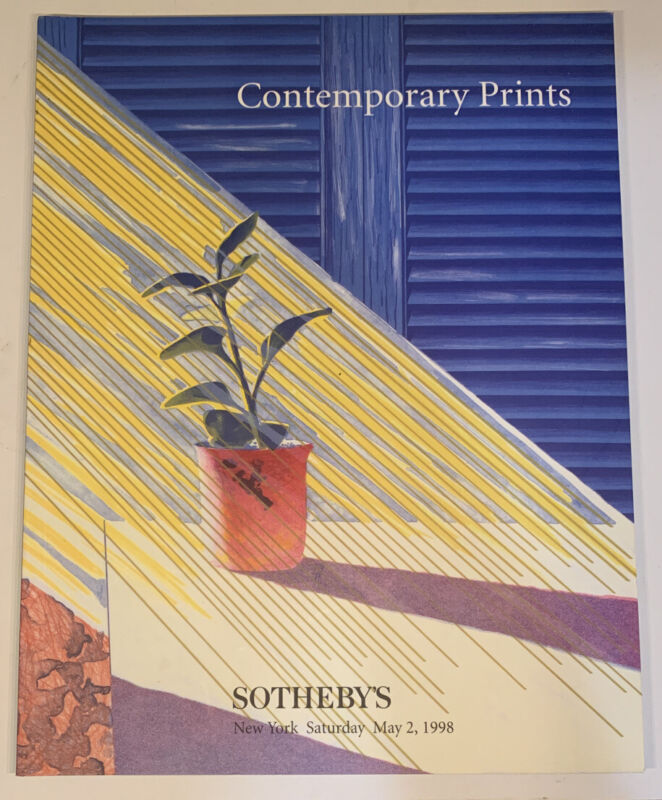 Sotheby's Contemporary Prints Sale 7126 New York May 1998 Catalog