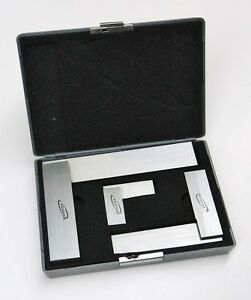 Machinist Square 90º Right Angle Engineer's 3- Set DIN Standard 2