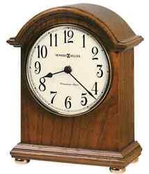 Myra Elegant Table Clock Single Chime Classic Tabletop Desk Mantle Top Shelf Oak