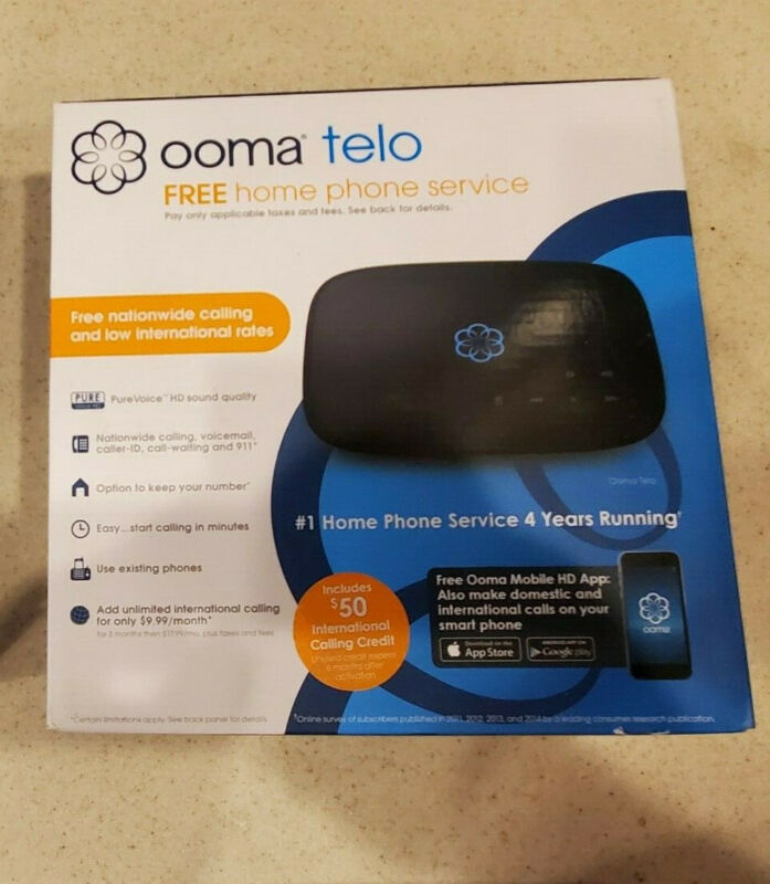Ooma Telo Home Phone Service – Black