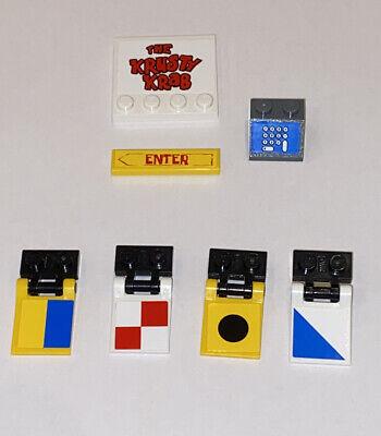 Lego Spongebob Squarepants Building Parts 7 Pc Krusty Krab Sign Flag Register