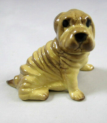 Hagen Renaker Miniature Made in America Shar Pei puppy dog retired