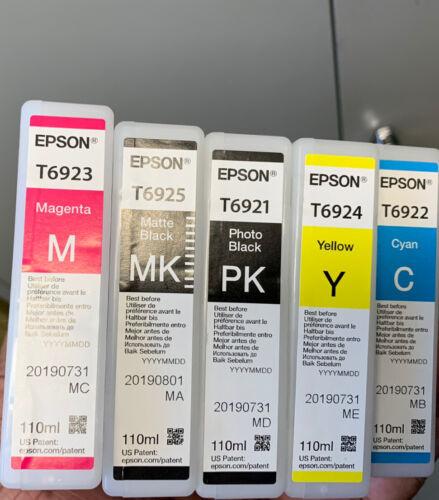 5 X Original Ink Epson Surecolor SC-T3000 SC-T5000 SC-T7000/T6921 -T6925 Set - $100.00
