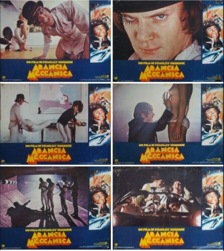 A CLOCKWORK ORANGE Italian fotobusta movie posters x8 R1978 STANLEY KUBRICK