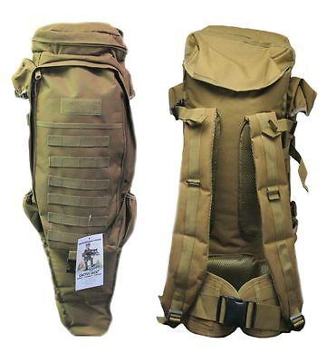 Tactical Assault Bag Pack 4 Rifle Desert Tan Hunting Padded Cactus Jack Backpack