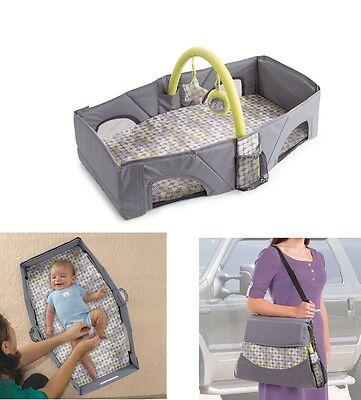Foldable Travel Bassinet Bed Crib Playpen Diaper Changer Infant Nursery Sleeper