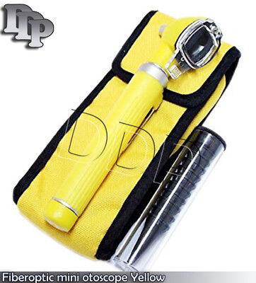 Fiber Optic Mini Otoscope Yellow Color Diagnostic Set