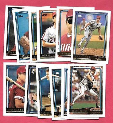 e7e3050b8 1992 Topps Winner Gold - 12 card Phillies lot w  Dykstra - Von Hays -  Daulton +