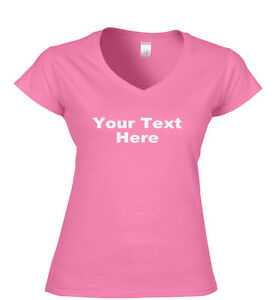 Your-Text-Here-Custom-Printed-Ladies-Fit-T-Shirt-Ladies-V-Neck-T-Shirts-S-XXL
