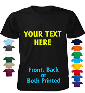 Custom Printed Personalised T-Shirts Tee Shirt Stag Hen Charity Run - Text Only