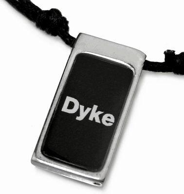 RP10 Gay Lesbian Pride Halskette Surferkette DYKE Dog Tag Rainbow LGBT Necklace ()