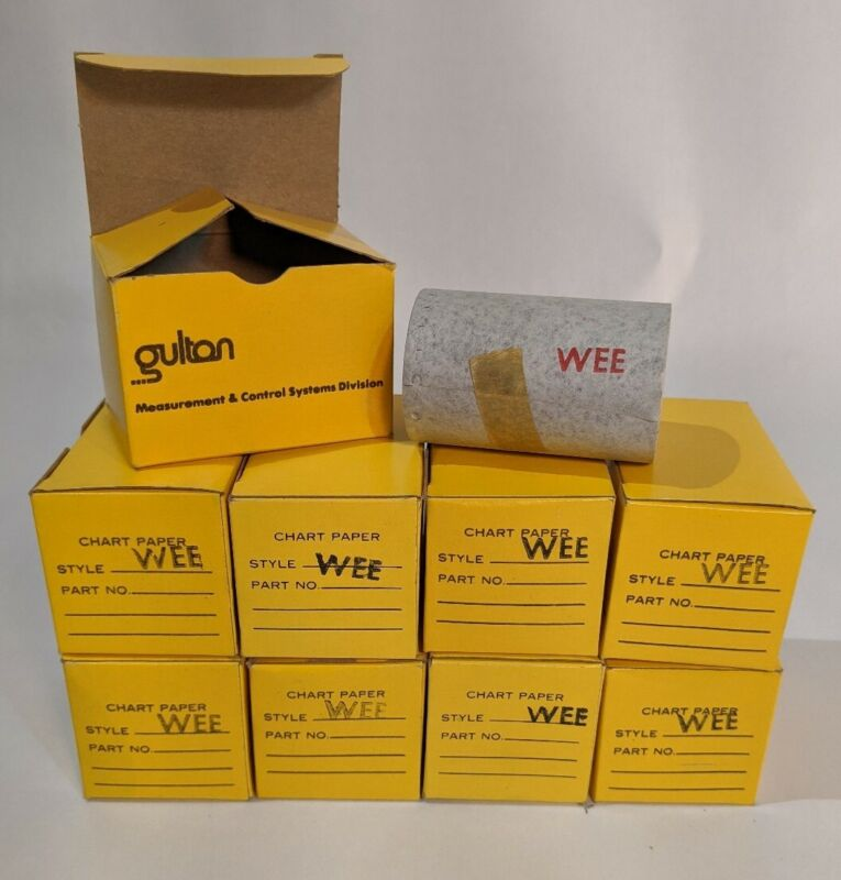 9 Rolls of Gulton Industries Chart Paper - Style WEE - NIB
