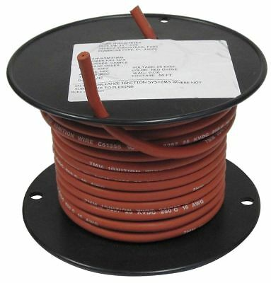 Rowe 18 Awg Hv Ignition Wire Nickel Plated Copper 25 Kvdc Red 50 Ft. -