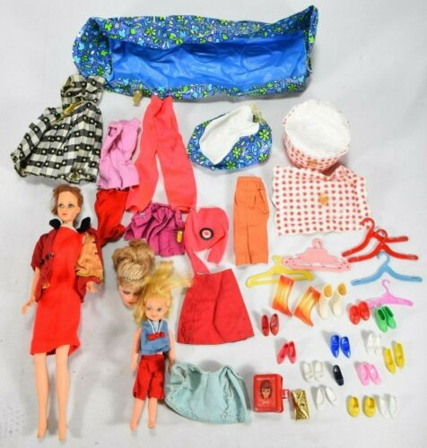 Vtg Twist N Turn Barbie & Child 1965 1966 Clothes Accessories Pool Heels Boots