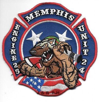 """*NEW*  Memphis  Engine-25 / Unit - 24, TN  (4.5"""" x 4.5"""" size) fire patch"""