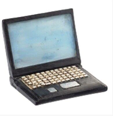 1 Mini Laptop 4 cm PC Computer Gutschein Geldgeschenk basteln Geburtstag Deko (Computer Mini-laptop)