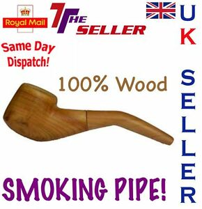SMOKING PIPE WOODEN FOR TOBACCO BRAND NEW 100% WOOD HIGH QUALITY CHEAPEST