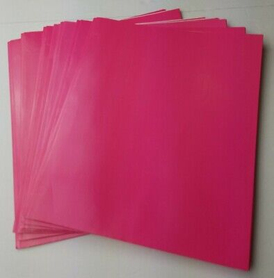 2 Pocket Pink Paper Folders With Prongs And 2 Business Card Holders Inside 7